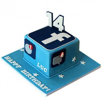 Tasty Facebook Cake