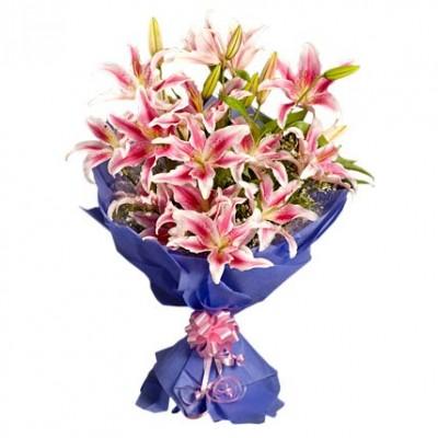 Pink Stargazer Lilies